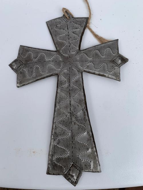 Small Cross Metal Wall Art