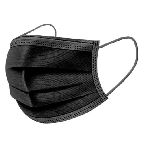 3 Ply Masks (Black)(50 pk)