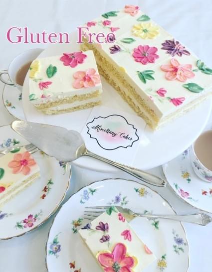 Gluten Free Buttercream Blossoms Tea-Time Cake