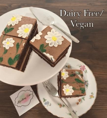 Dairy Free/Vegan Buttercream Blossoms Tea-Time Cake