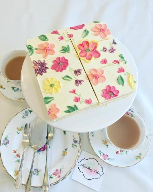 Buttercream Blossoms Tea-Time Cake