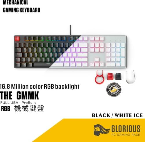 The Glorious GMMK - FULL USA - PreBuilt (Brown Switch)