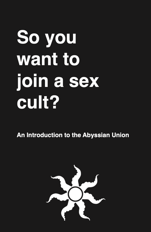 """So you want to join a sex cult?"" Physical Copy"