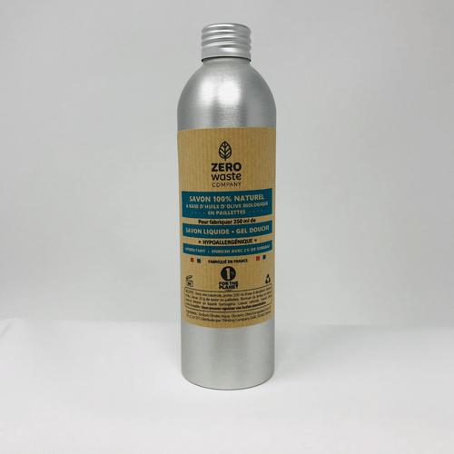 250 ml de savon liquide DIY - Certifié Bio (Bouteille Durable + Paillettes Savon Nature)