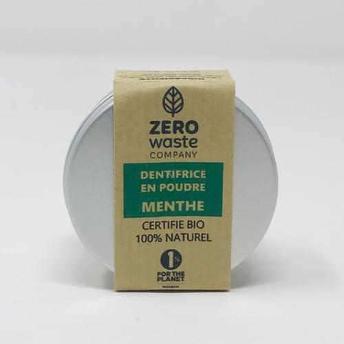 Dentifrice poudre menthe 30 g - Certifié Bio