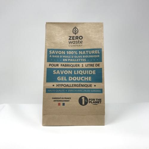 1 litre de savon liquide DIY - Certifié Bio (Paillettes Savon Nature)