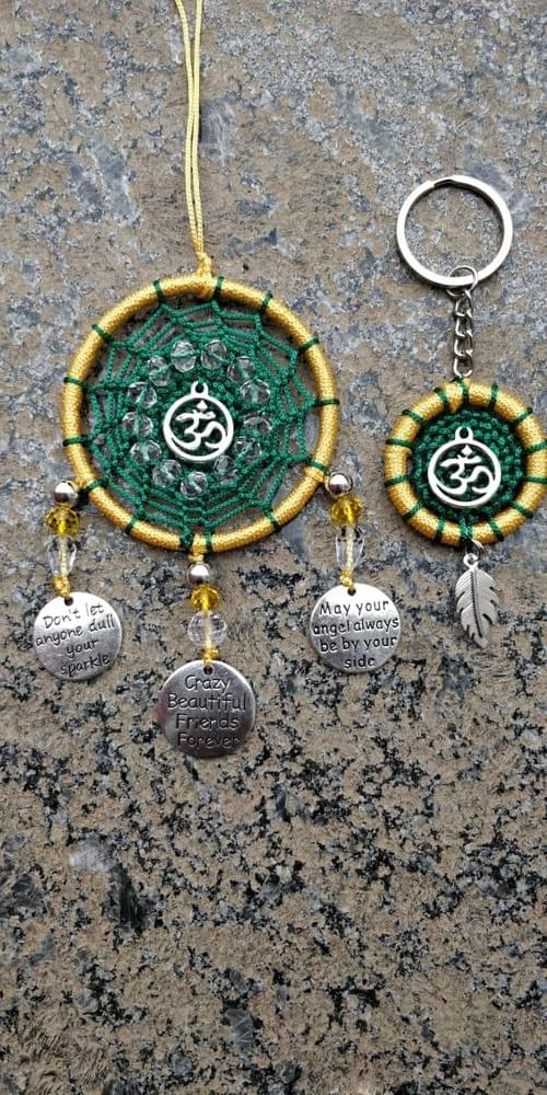 Dream Catcher Matching Car Hanging And Key chain Set