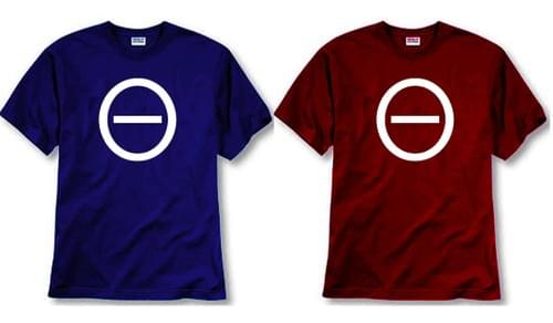 Men's MOTIVE Icon T-shirt (red & blue)