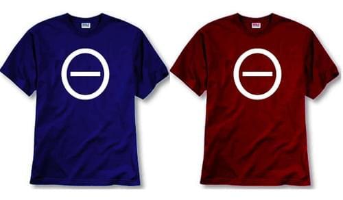 Men's MOTIVE Icon T-shirt (red & blue)