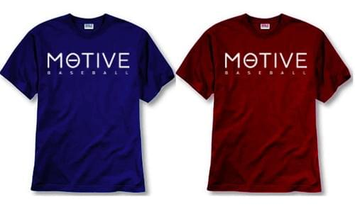 Men's MOTIVE T-shirt (red & blue)