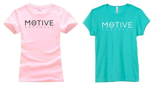 Women's MOTIVE T-shirt (pink & teal)