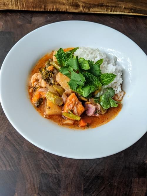 Thai Me Up Vegetarian Curry with Rice-1 quart plus rice