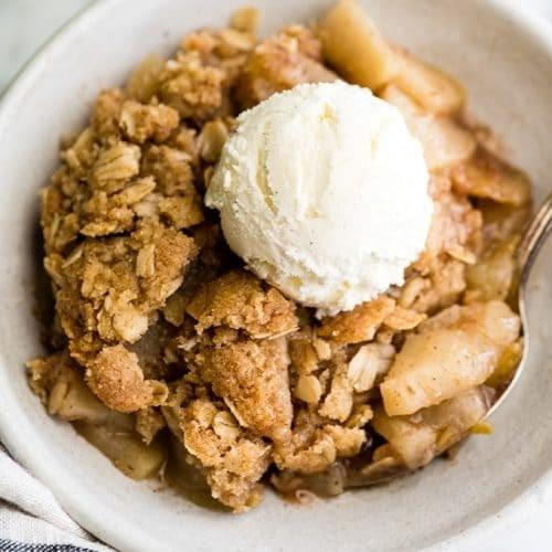 SPECIAL WEEKLY MENU January 22nd-Apple Crumble with Whipped Cream