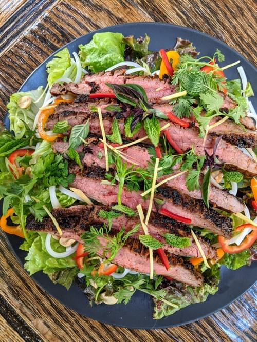 SPECIAL MENU JULY 30th- Thai Beef Salad (Vegetarian option available)