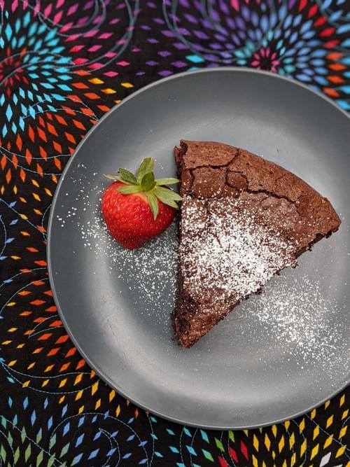 SPECIAL MENU APRIL 30th- Flourless Dark Chocolate-Olive Oil Cake (GF)