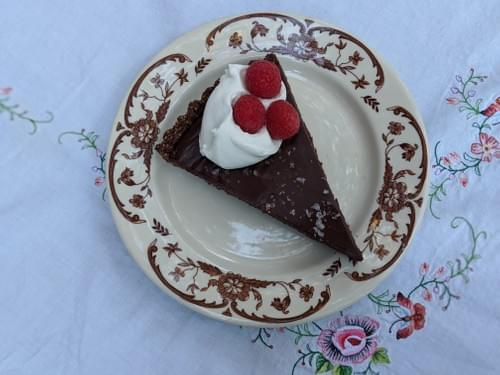SPECIAL Weekly MENU APRIL 23rd- Dark Chocolate Torte with Sea Salt and Chantilly Cream