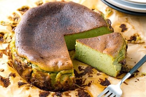SPECIAL MENU JULY 30th- Matcha Basuku (Burnt Basque Cheesecake