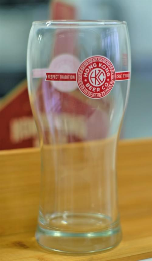 HKBC 500mL Beer Glass - must be purchased w/ case of beer