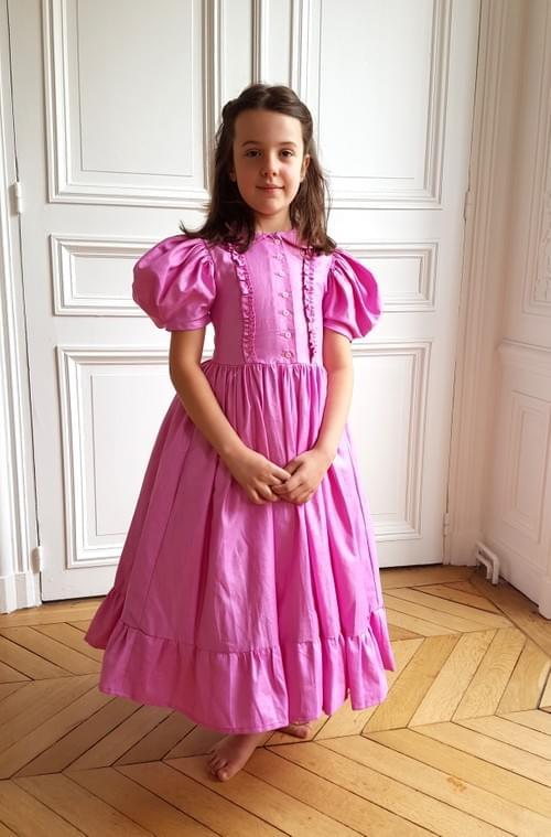 Robe Aurore rose bonbon - 8 ans