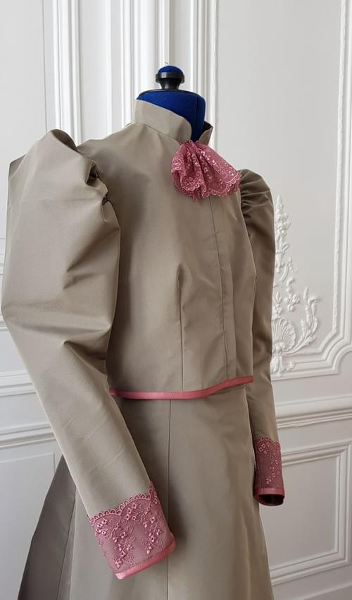 Ensemble Cléo taupe - taille 12/14 ans