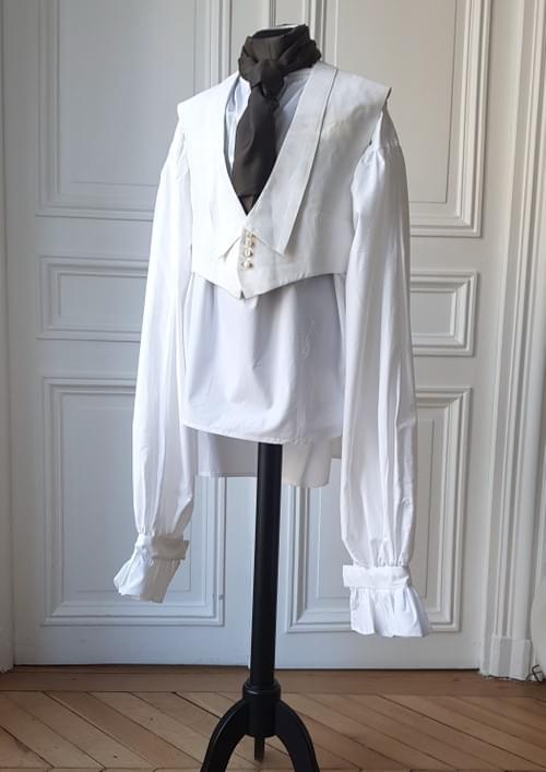 Gilet George blanc, col tailleur - taille 38/40