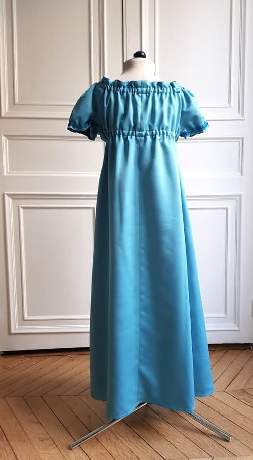 Robe Juliette turquoise - 8 ans
