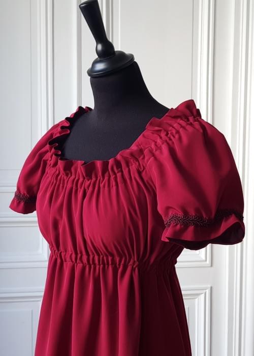 Robe Juliette grenat - Taille 40