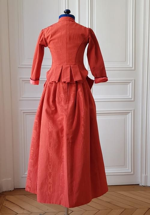 Jupe Berthe corail - taille 5/7 ans