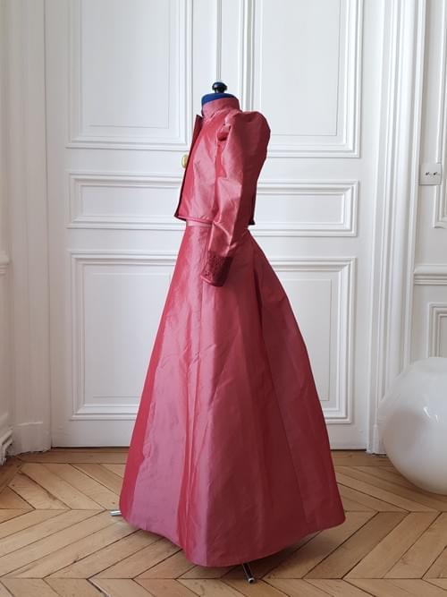 Jupe Cléo framboise - 6/8 ans