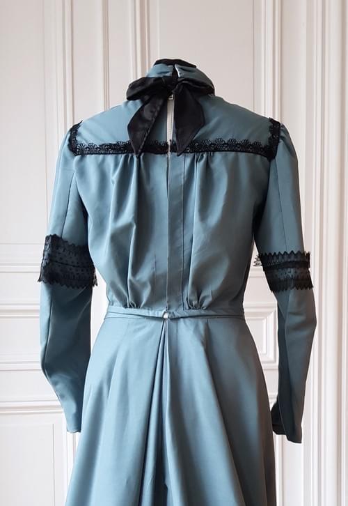 Chemisier Colette  bleu ardoise - taille 36/38