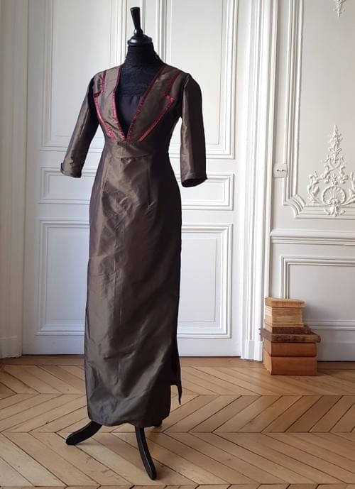 Robe Germaine bronze - taille 36/38