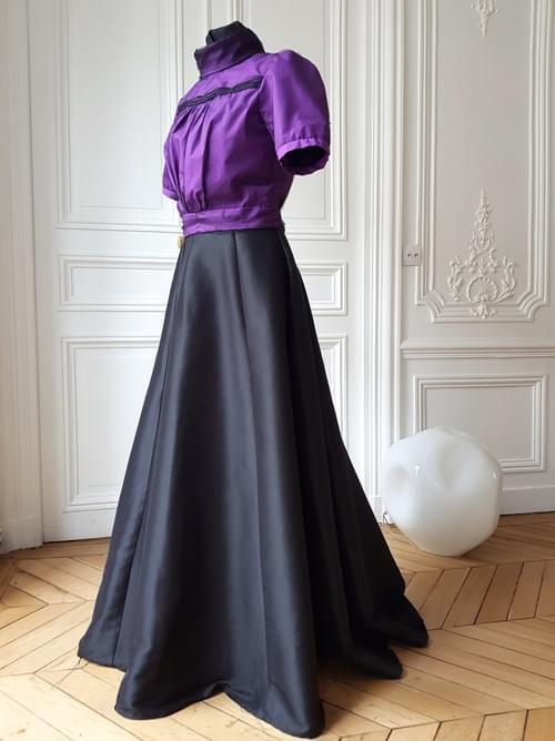 Chemisier Colette Violet manches courtes - 38