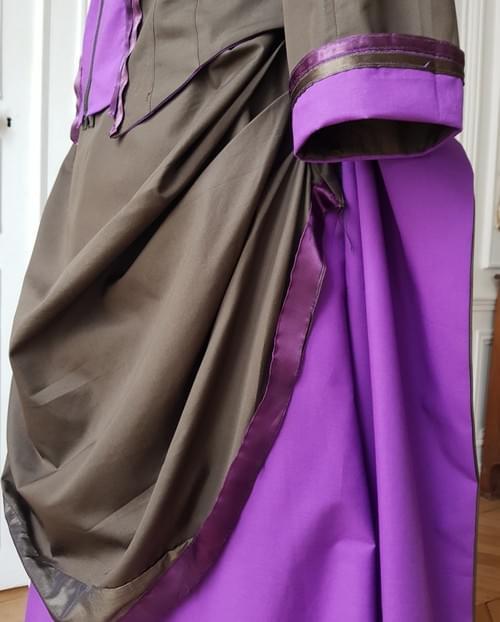 Jupe Berthe kaki/violet - taille 36/38