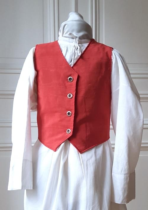 Gilet Alfred corail - 8/9 ans