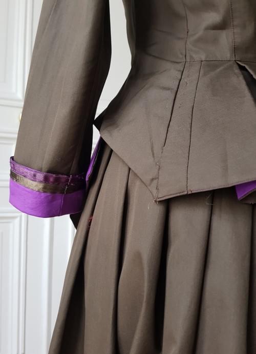 Veste Berthe kaki/violet