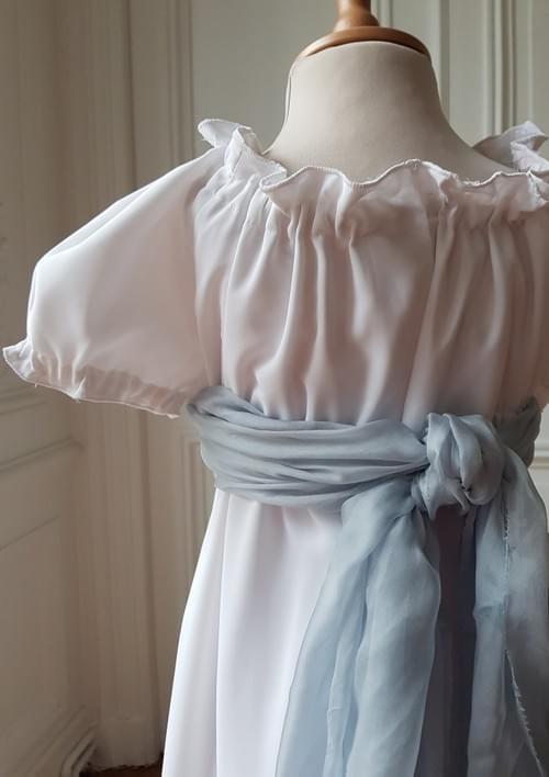 Robe Juliette blanche manches raglan - taille 8 ans