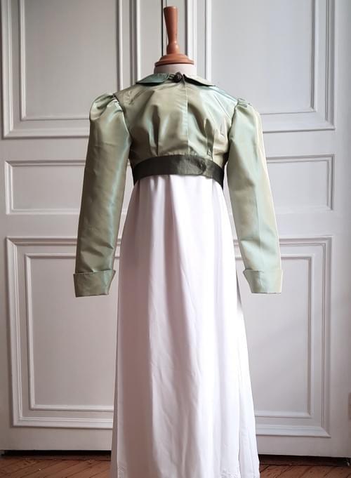 Boléro Juliette vert amande - 8 ans