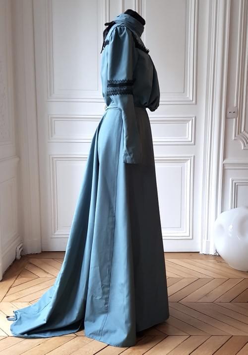 Ensemble Colette bleu-gris taille 38