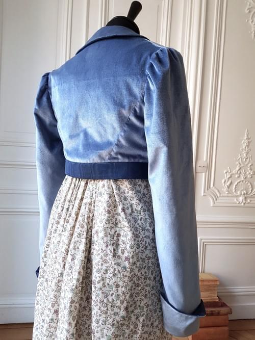 Boléro Juliette bleu glacier - Taille 40