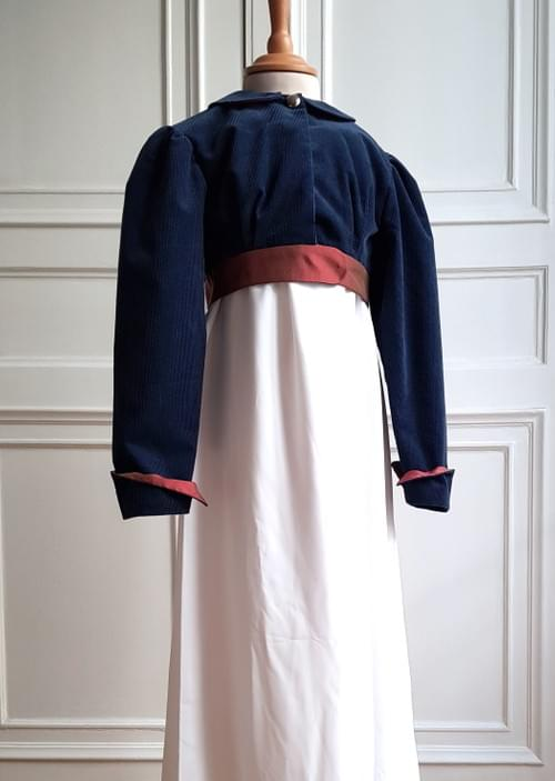Boléro Juliette bleu canard - 8 ans