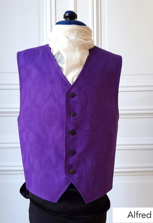 Gilet Alfred violet 10/12 ans