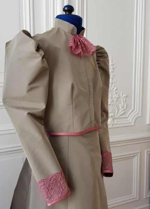 Veste Cléo taupe- taille 11/13 ans
