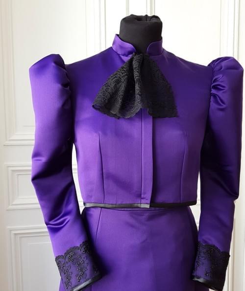 veste Cléo viollette - taille 12/14 ans