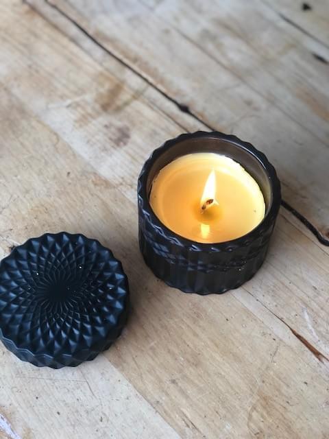 Signature Range 'La Vela' Beeswax Candle - Black