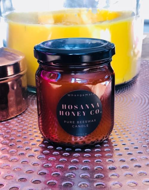 Amber Glow Beeswax Candle 200ml