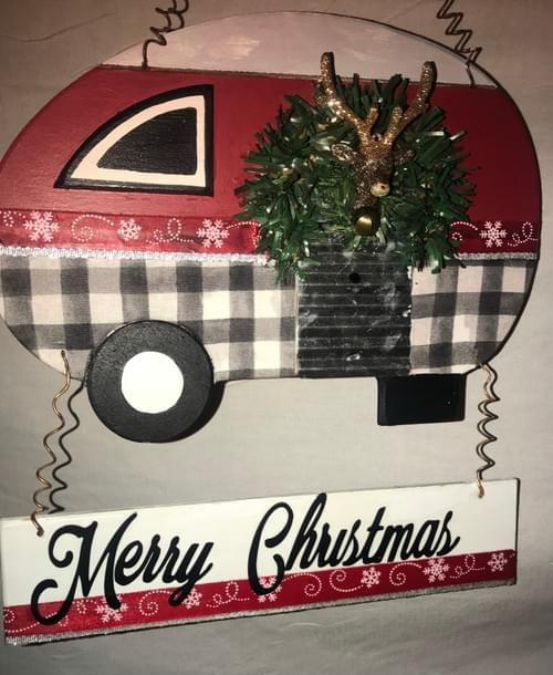 Christmas Camper Welcome sign