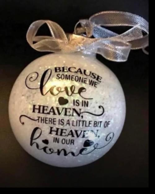 Religious memorial ornament