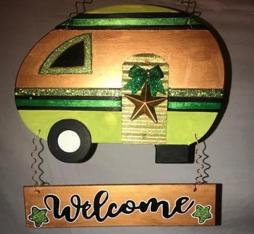 Green and Gold Deluxe Camper