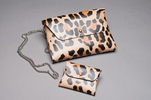 Ensemble Pliage 4 pièces imprimé léopard