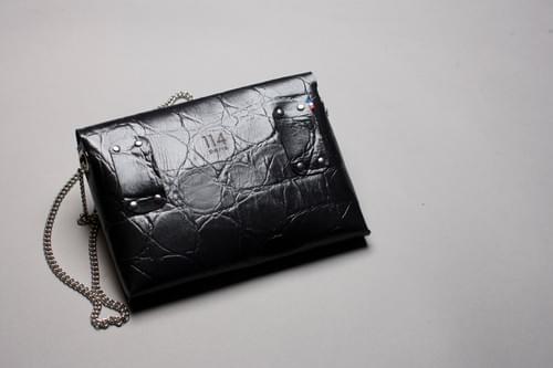 Sac Pliage écaille noir (fourni avec son porte-monnaie assorti+chaîne+ceinture)